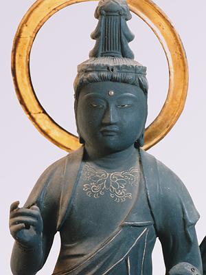 日光月光菩薩立像